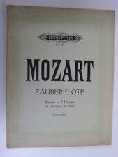 piano solo MOZART zauberflote / magic flute , peters / kleinmichel
