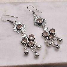 "Smoky Quartz  Handmade Drop Dangle Earrings Jewelry 2.8"" AE 55211"