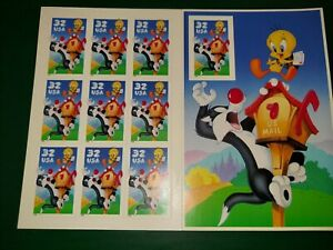 Stamps Looney Tunes booklet 32 Cent Tweety & Sylvester SC #3205 R