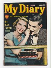 My Diary #1 Canadian Edition Golden Age Romance Photo Cover Bell Feature 1950 VG