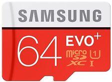 64GB Samsung EVO Plus MicroSD SDXC UHS-I CLASS 10 R-80MB/s W 20MB/s + Adattatore SD