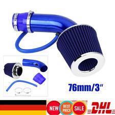 Air Intake Kit Sport Luftfilter Universal 3'' 76mm KFZ Auto Sportluftfilter Blau