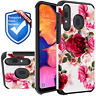 For Samsung Galaxy A10e A50 A20 A30 Case Rubber Hard Cover +Tempered Glass