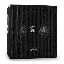 """DJ PA SUBWOOFER ACTIF SONO DISCO CAISSON DE BASSES AMPLIFIE 38CM 15"""" 600W MAX"""