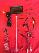 Motorcycle Custom Mount 4.3 Monitor Rear View Night Vision Camera Kit Waterproof