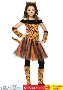 Tigress Girls Fancy Dress Book Week Animal Cat Kitty Child Tiger Costume