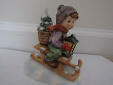 """Goebel Hummel 4.5"""" Ride into Christmas #396 2/0 in excellent condition"""