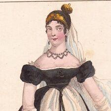 Portrait XIXe CAROLINE MURAT BONAPARTE Napoléon Napoli Ajaccio Corse 1845