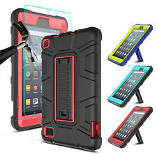 For Amazon Fire 7 2019/HD 8 2018 9th Gen Tablet Stand Case With Screen Protector