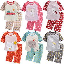 "Vaenait Baby Kids Girls Short Sleeve Sleepwear Pajama ""Girls 3/4 Sleeves"" 12M-7T"
