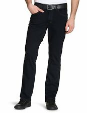 New Lee Brooklyn Men's Stretch Jeans Straight Leg Dark Blue Black Navy Denim