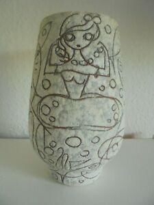 "Ruscha Keramik Vase ""Filigran"" Adele Bolz 50er /  60er Jahre"