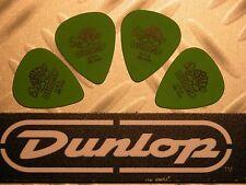 USA médiators Tortex® Jim Dunlop  Lot 4 Médiators Tortex Standard 0,88mm Vert