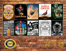 Job Lot 10 x METAL TIN SIGN WALL PLAQUE  PUB BAR MAN CAVE 16