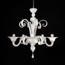 Firenze lustre en verre de Murano 5 lumières blanc