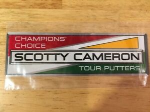 Scotty Cameron Champions' Choice Euro Racer Tour Putters Decal Sticker Titleist