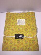 Vintage NECO 3 Heat Electric Heating Pad 819 Floral Wet Waterproof 50 Watts