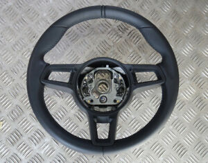 Porsche 911 991 981 718 Carrera Boxter Cayman LEATHER Steering wheel __ MANUAL