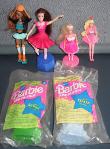 6 VTG BARBIE FIGURINES - GENERAL MILLS CEREAL, KEYCHAIN BALLERINA, 4 MCDONALD'S