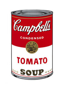 Soup Can Series #1 Tomato by Andy Warhol A2 High Quality Canvas Print