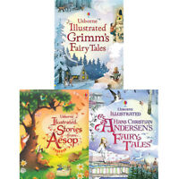 Usborne Illustrated Story Collections Series 1 : 3 Books Set Grimm's Fairy Tales