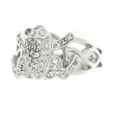 Sterling Silvler Cubic Zirconia Facny Frog Ring