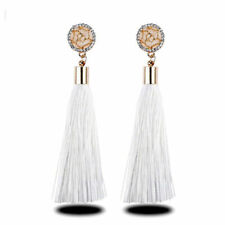 Vintage Boho Long Tassel Earrings Long Dangle Thread Tassle Earring Women Gift