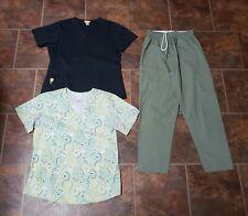 Lot of 3 Scrub Uniform Tops & Pants Size Small (Lot D)