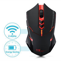 ETX-08 2.4GHz 2000DPI USB Wireless Optical Gaming Mouse Mice For Laptop PC RED