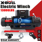X-BULL 12V 13000LBS Electric Winch Synthetic Rope Jeep Towing Truck Off Road 4WD