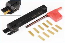MGEHR1212-2 Lathe Turning Tool 10x MGMN200-G Carbide Inserts Boring Carving Set