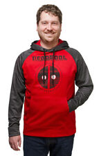 MARVEL Deadpool Space Dye Hoodie 2XL Red