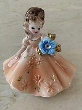 Vintage Josef Originals Japan December Zircon Birthstone Girl Figurine.