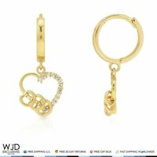 Butterfly 0.25Ct Cartilage Ear Chain Double Piercing 14K Yellow Gold Earring