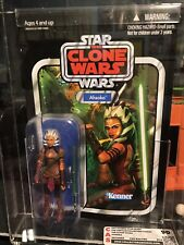 Star Wars Vintage Collection #102 Unpunched Ahsoka CAS Graded 90
