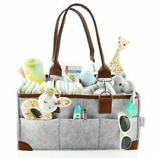 Baby Diaper Caddy Organizer - Portable Storage Basket - Essential Bag for Nur...