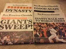 LOT OF 4 SF GIANTS CHRONICLE NEWSPAPER WORLD SERIES 2012 2014 LINCECUM NO HITTER