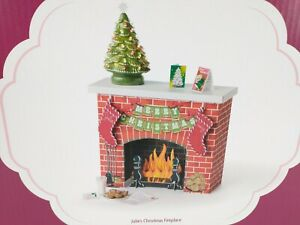 American Girl Julie's Christmas Fireplace Set