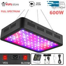 600 Watt Hydroponics Panel LED Grow Light Full Spectrum for Indoor VEG and Bloom