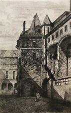 Paris palais de justice disparu cour Lamoignon graveur Martial c 1862 France
