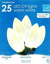 Holiday Time 25 LED C9 Lights Warm White