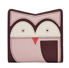 FOSSIL RFID Mini Wallet Owl Geldbörse Purple Multi Violett Neu