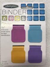 Wilson Jones Binder Apps Binder Id Small 4 Pack Assorted Colors W20237