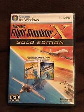 Microsoft Flight Simulator X GOLD Edition Widows PC DVD Complete Excellent