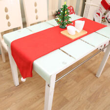 Christmas Table Runner Decor Fabric Table Flag Dining Table Cover Xmas Ornaments