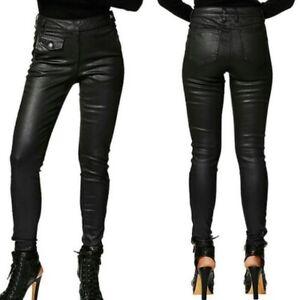 Jean Paul Gaultier Leather Look Biker Pants