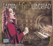 2 CD's / DVD Combo - Tania CD NEW 50 Anos De Libertad En Vivo Bellas BRAND NEW