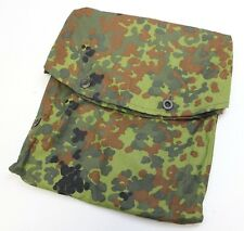 GERMAN ARMY SHELTER COVER / ZELTBAHN STORAGE BAG in FLECKTARN CAMO