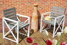 2-er Set Klappstuhl Gartenstuhl Stuhlset Stuhl Sessel Garten Balkon Grau Weiß