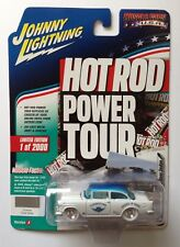 Johnny Lightning 1955 CHEVY TWO-DOOR SEDAN Hot Rod WHITE LIGHTNING Chase 1/64